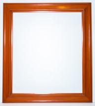 Mars Yellow/Orange Wood Frame - 26.5 X 30 - $300