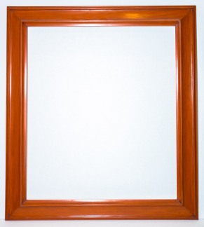 Mars Yellow/Orange Wood Frame - 26.5 X 30 - $300