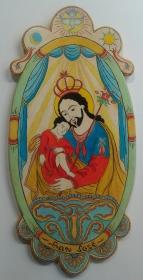 "Saint Joseph and Son - 11"" X 23"" - $800.00"