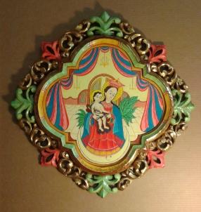 """Nuestra Seniora del Refusio - Image 17"""" X 17"""" - Frame 26"""" X 26""""- $3200.00"""