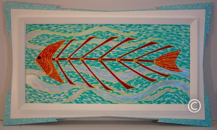 Fish - Image 18 x 38.5 - Frame 29.75 x 49.5 - $3,000