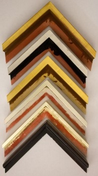 Medium Gold with Red Rub - Sliver - Dark Gold with Leaf Lines - Silver - Bright Gold - Black with Red Rub