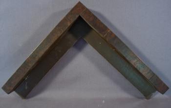 Black Walnut veneer one inch painted edges