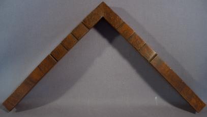 Koa Wood Vaneer Cap one inch painted edges